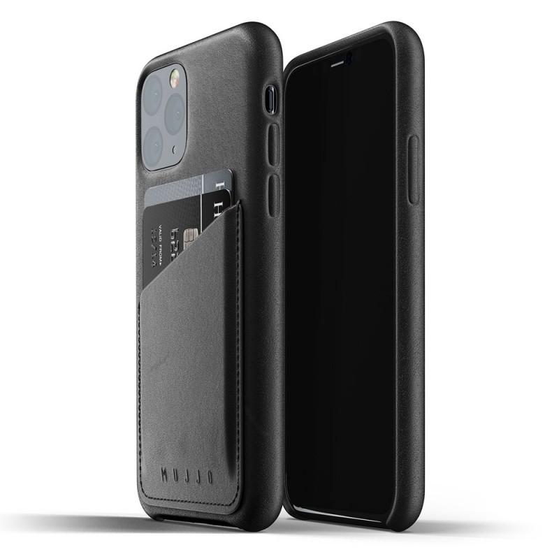 Mujjo Full Leather Wallet iPhone 11 Pro zwart - 1