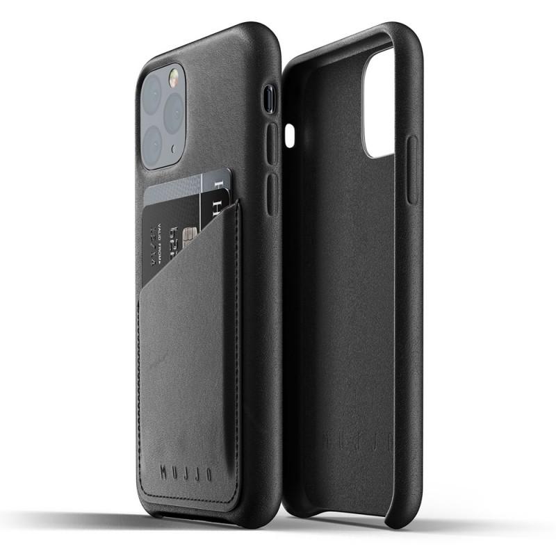 Mujjo Full Leather Wallet iPhone 11 Pro zwart - 2