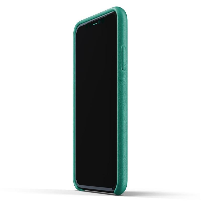 Mujjo Full Leather Wallet iPhone 11 alpine green - 4