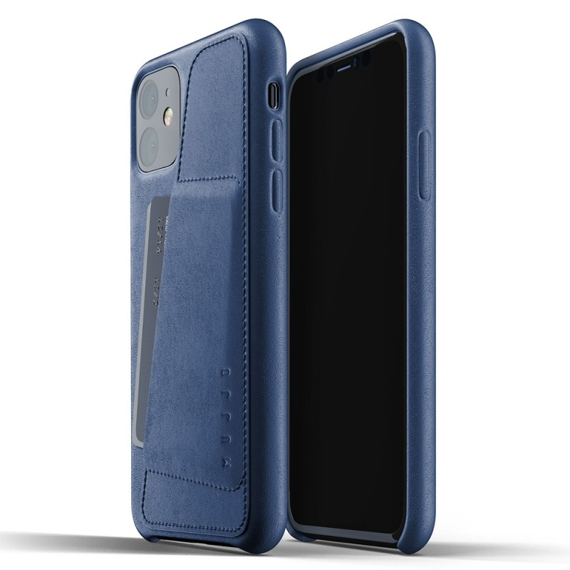 Mujjo Full Leather Wallet iPhone 11 monaco blue - 1