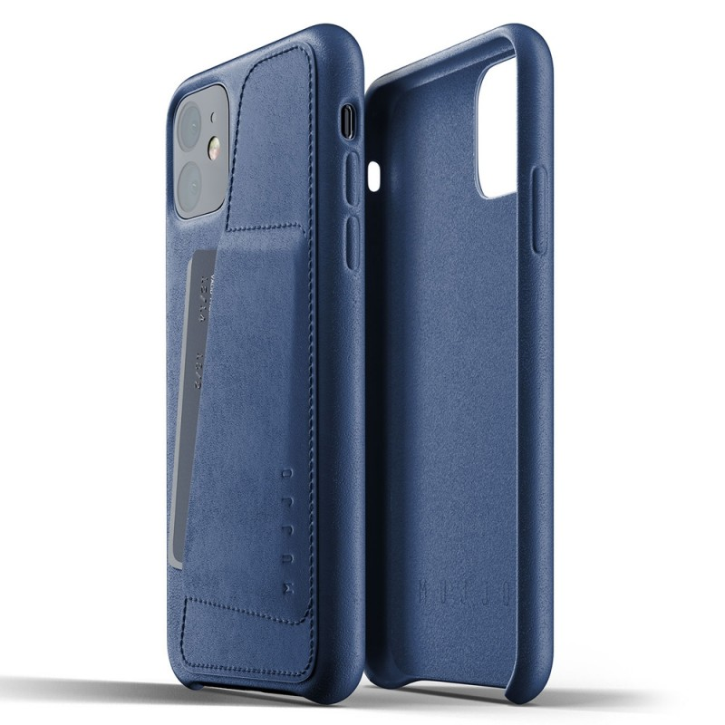 Mujjo Full Leather Wallet iPhone 11 monaco blue - 2