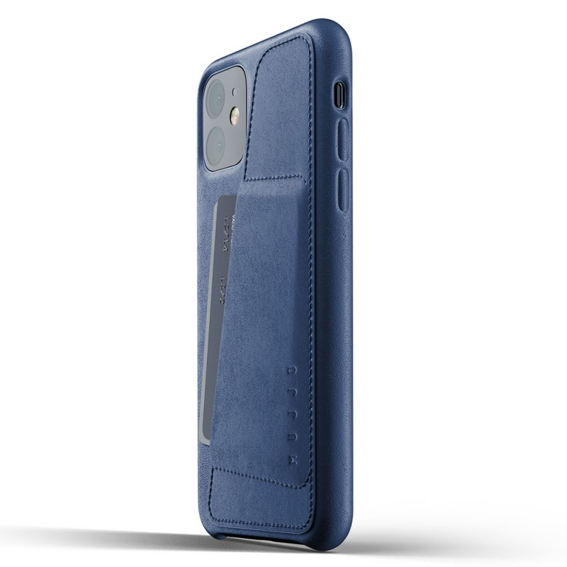 Mujjo Full Leather Wallet iPhone 11 monaco blue - 3
