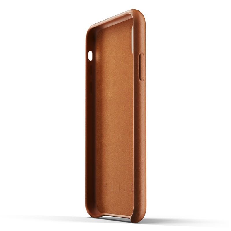 Mujjo Lederen iPhone XR Wallet Case Tan Bruin 04