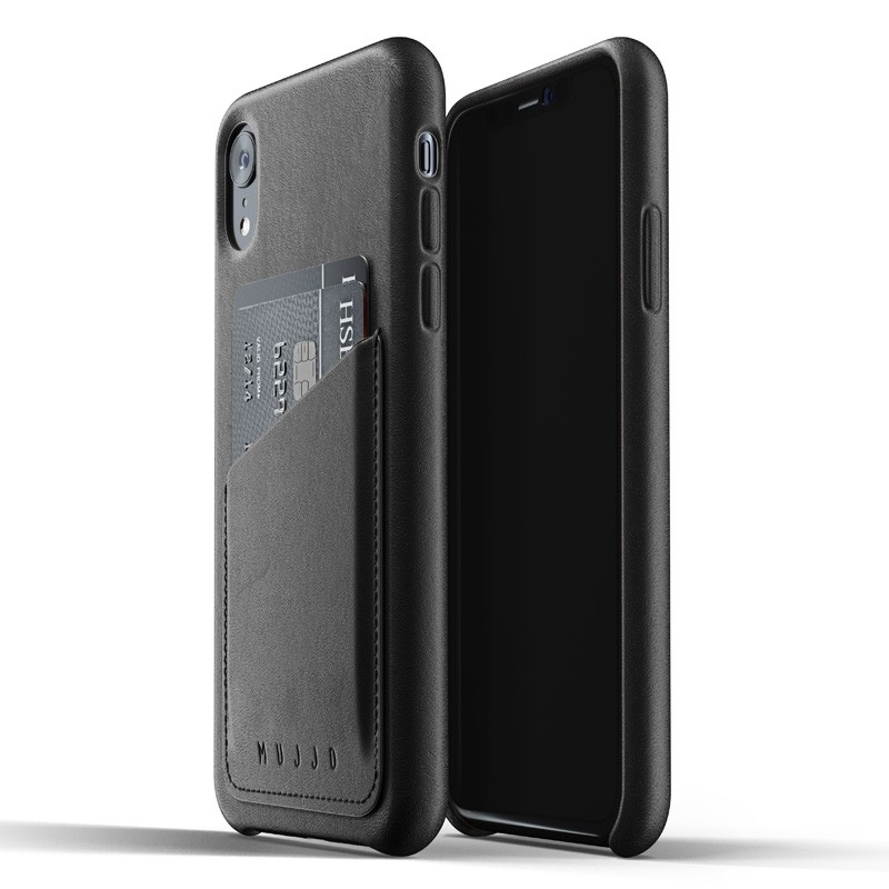 Mujjo Full Leather iPhone XR Case Zwart 01