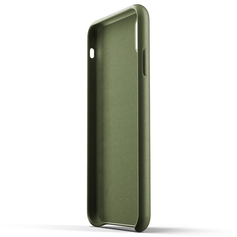 Mujjo Full Leather Wallet Case iPhone XS Max Olijfgroen 05