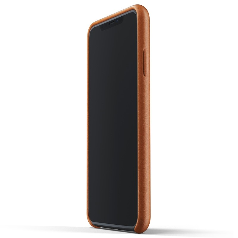 Mujjo Full Leather Wallet Case iPhone XS Max Tan bruin 02