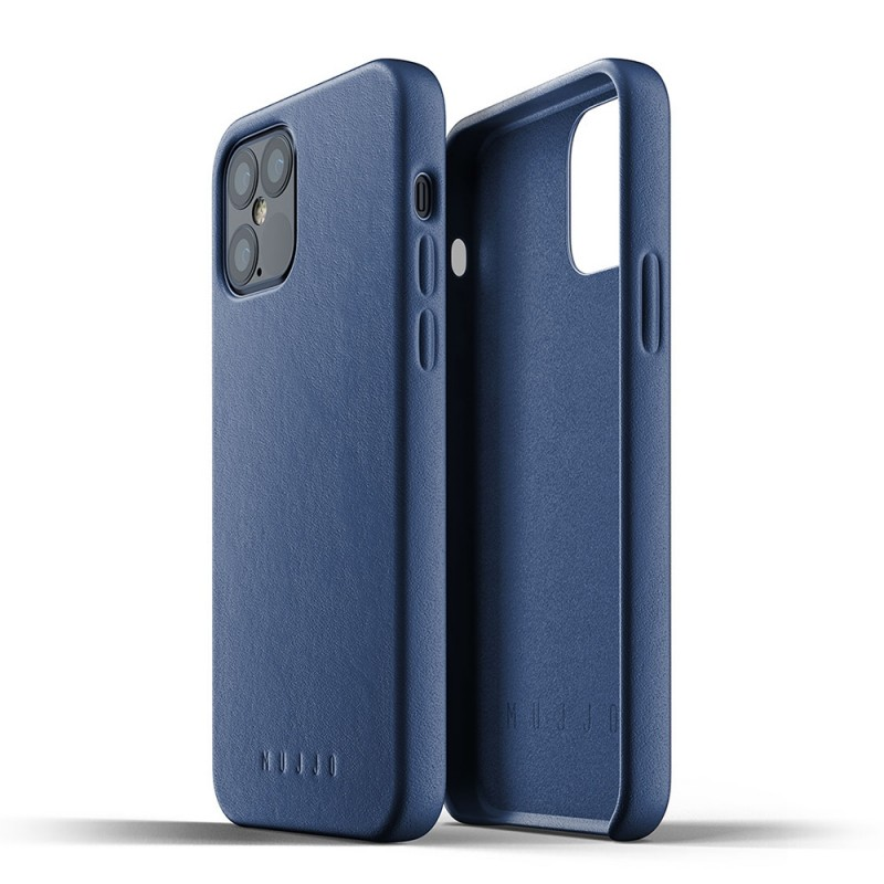 Mujjo Leather Case iPhone 12 / iPhone 12 Pro 6.1 Blauw - 2