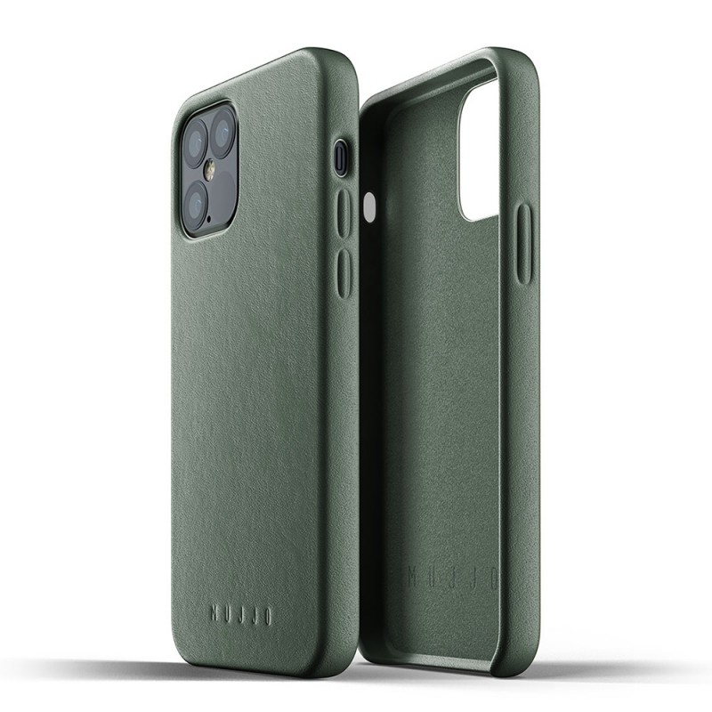 Mujjo Leather Case iPhone 12 / iPhone 12 Pro 6.1 Groen - 4
