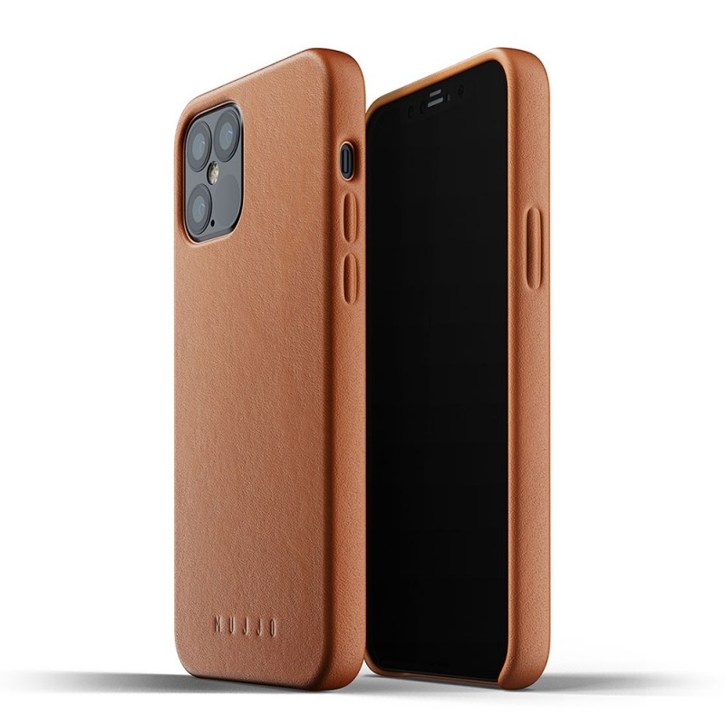 Mujjo Leather Case iPhone 12 / iPhone 12 Pro 6.1 Bruin - 1
