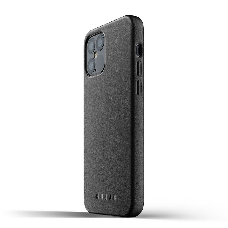 Mujjo Leather Case iPhone 12 / iPhone 12 Pro 6.1 Zwart - 4