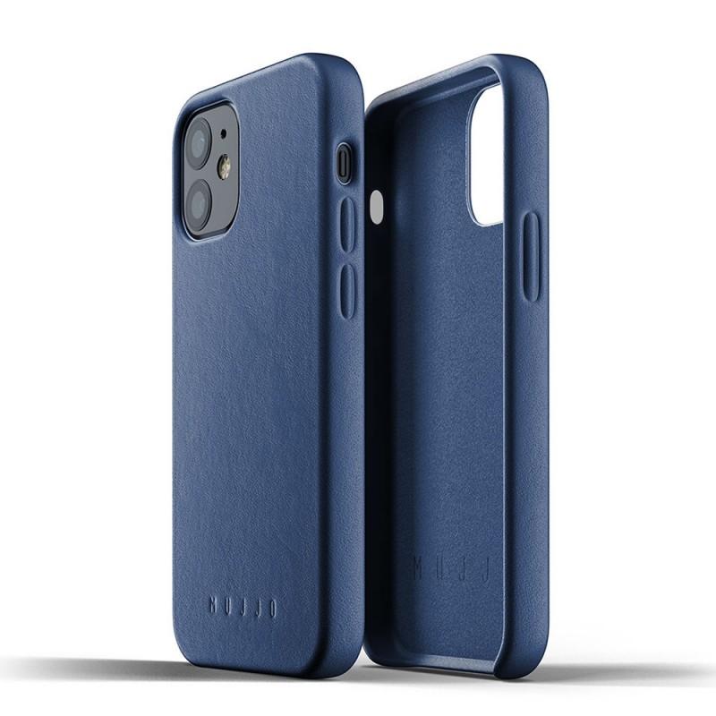 Mujjo Leather Case iPhone 12 Mini Blauw - 2