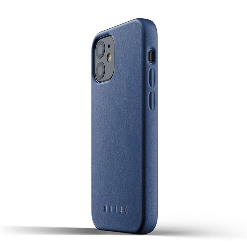 Mujjo Leather Case iPhone 12 Mini Blauw - 3