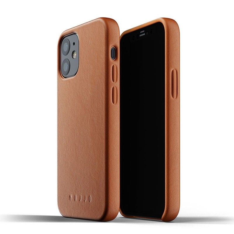 Mujjo Leather Case iPhone 12 Mini Bruin - 1