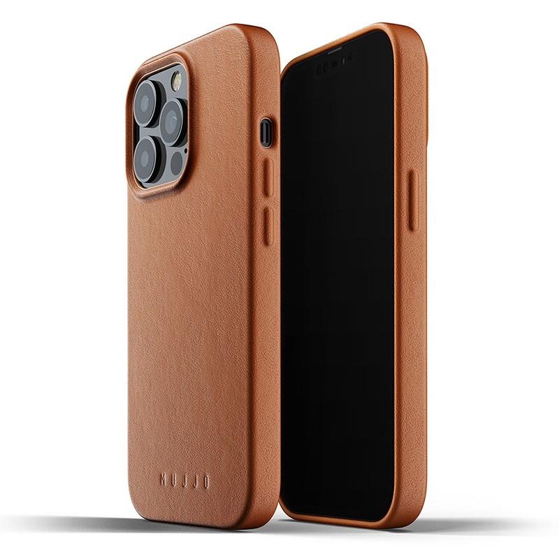 Mujjo Leather Case iPhone 13 Pro Bruin - 1