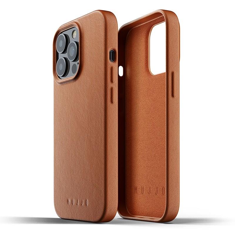 Mujjo Leather Case iPhone 13 Pro Bruin - 3