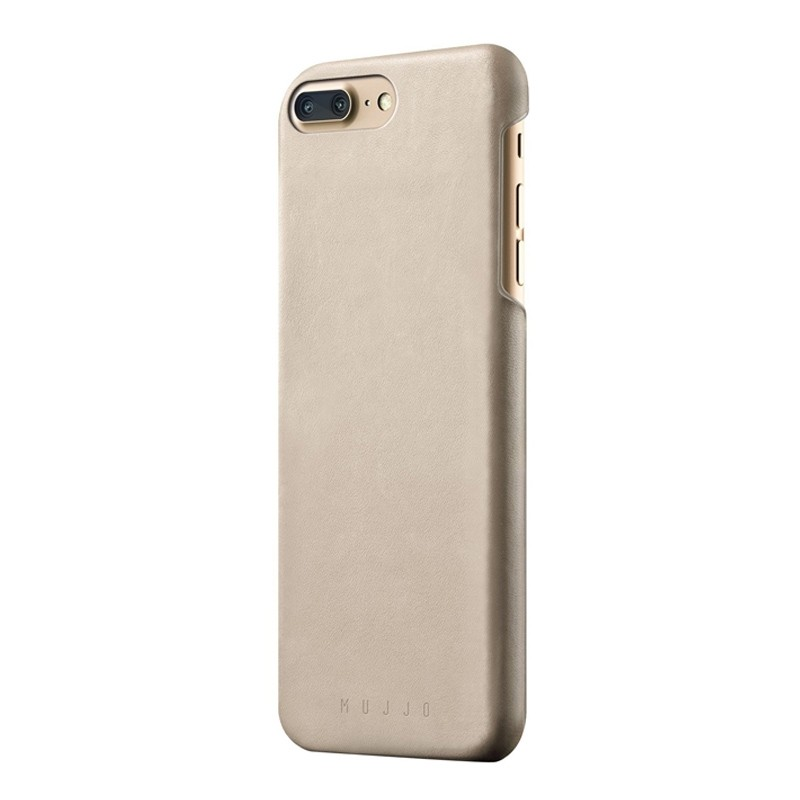 Mujjo - Leather Case iPhone 8 Plus/7 Plus champagne 01