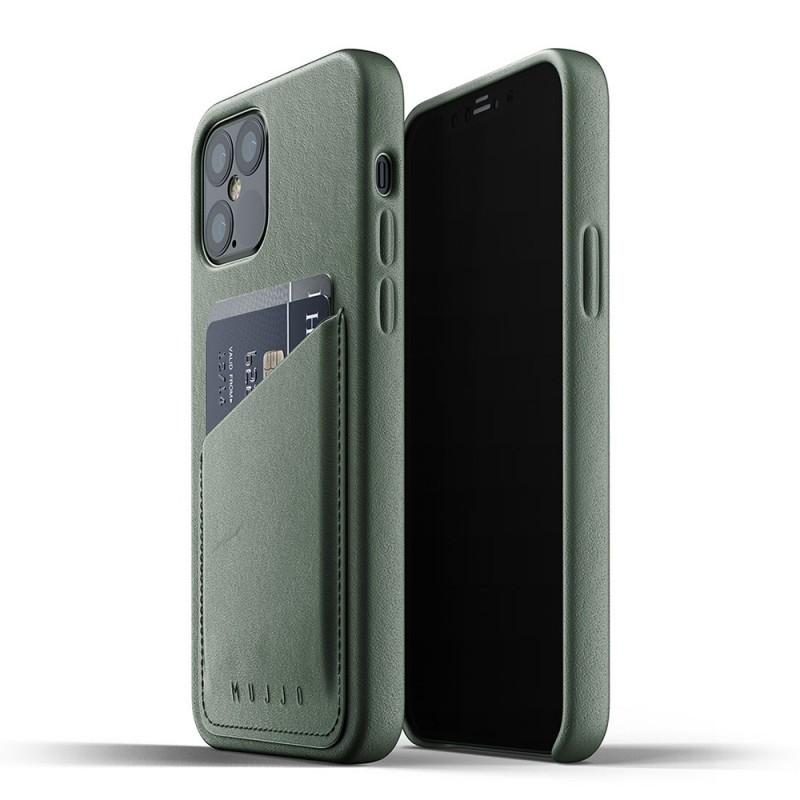 Mujjo Leather Wallet iPhone 12 / iPhone 12 Pro 6.1 Groen - 1