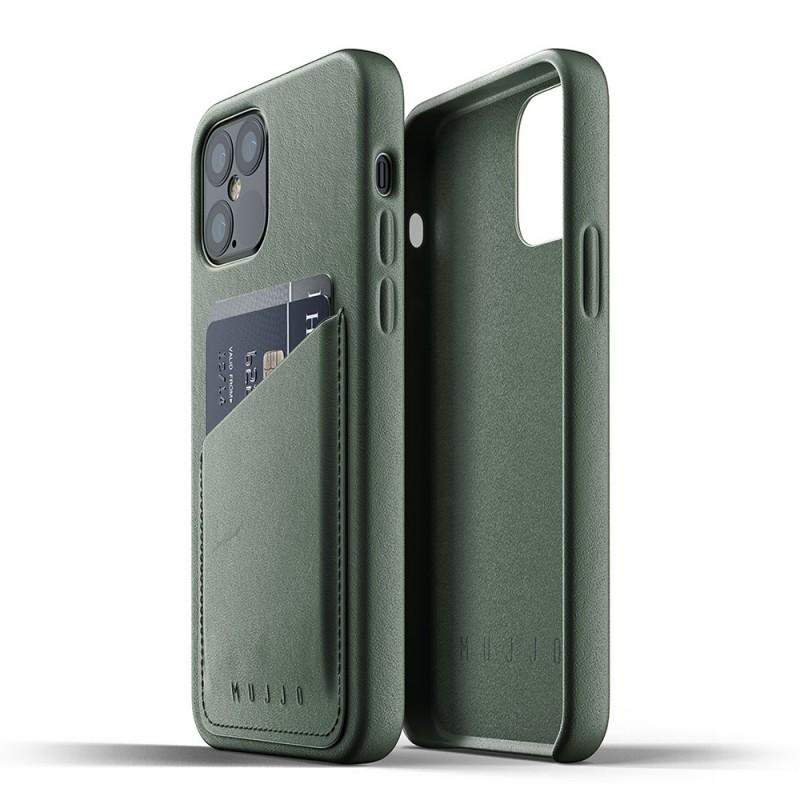 Mujjo Leather Wallet iPhone 12 / iPhone 12 Pro 6.1 Groen - 3