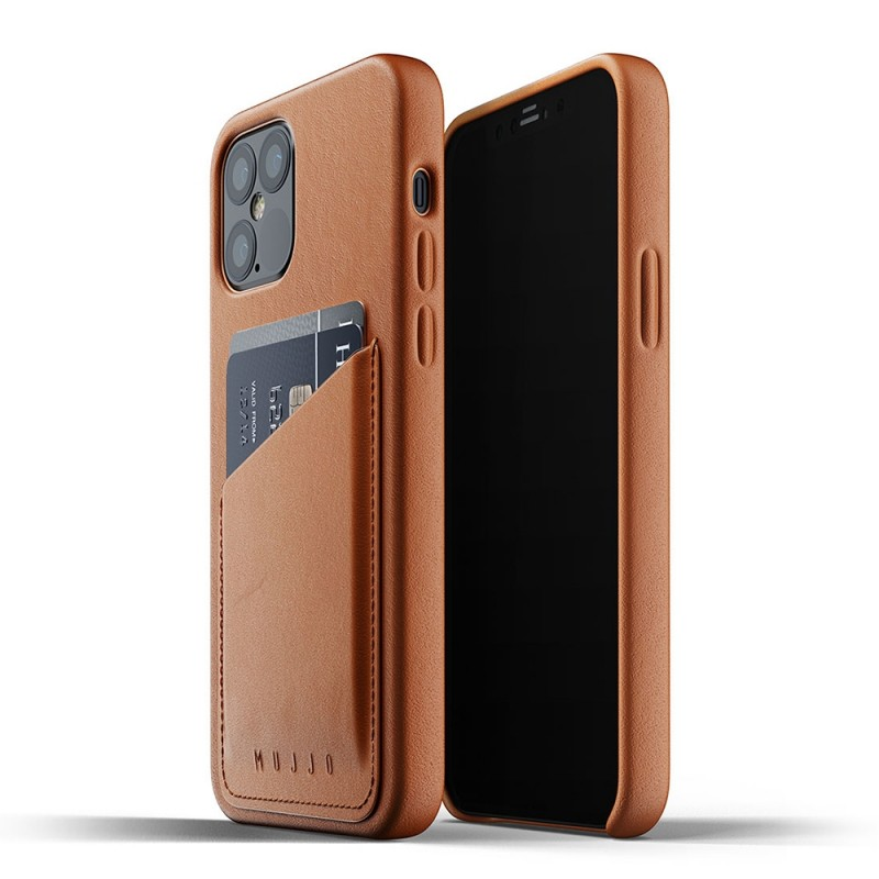 Mujjo Leather Wallet iPhone 12 / iPhone 12 Pro 6.1 Bruin - 1