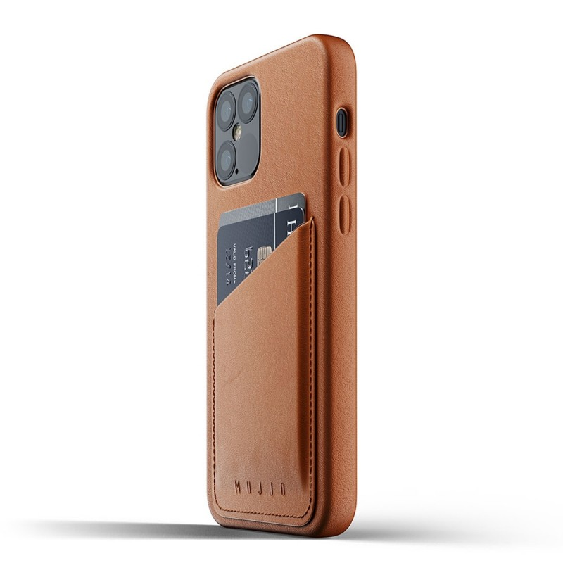 Mujjo Leather Wallet iPhone 12 / iPhone 12 Pro 6.1 Bruin - 4