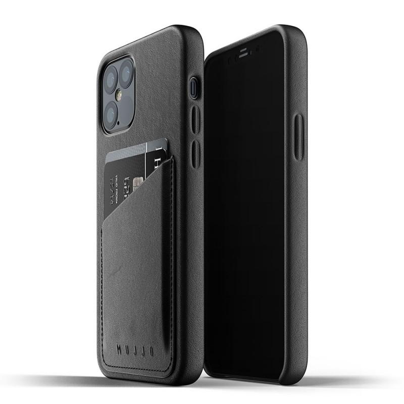 Mujjo Leather Wallet iPhone 12 / iPhone 12 Pro 6.1 Zwart - 1