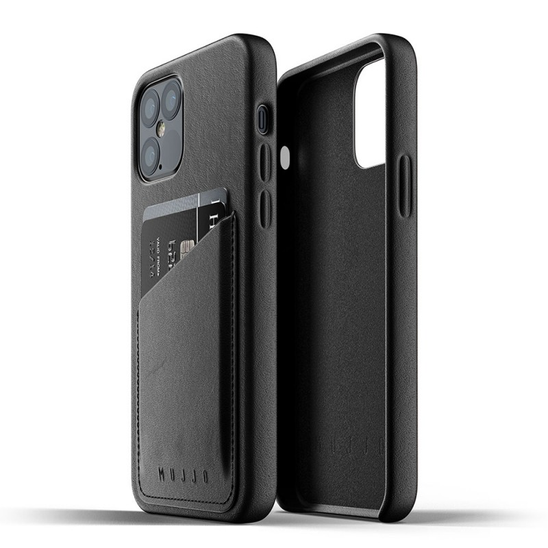 Mujjo Leather Wallet iPhone 12 / iPhone 12 Pro 6.1 Zwart - 3