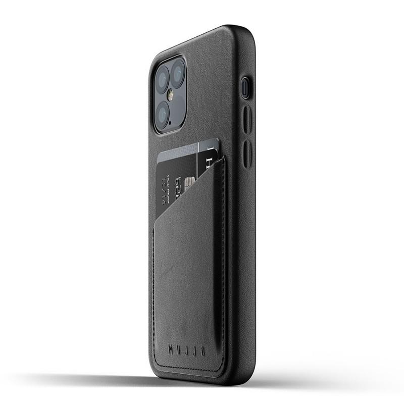 Mujjo Leather Wallet iPhone 12 / iPhone 12 Pro 6.1 Zwart - 4