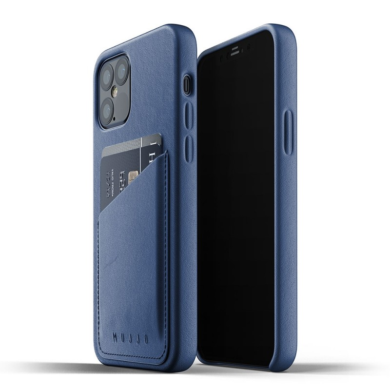 Mujjo Leather Wallet iPhone 12 Pro Max Blauw - 1