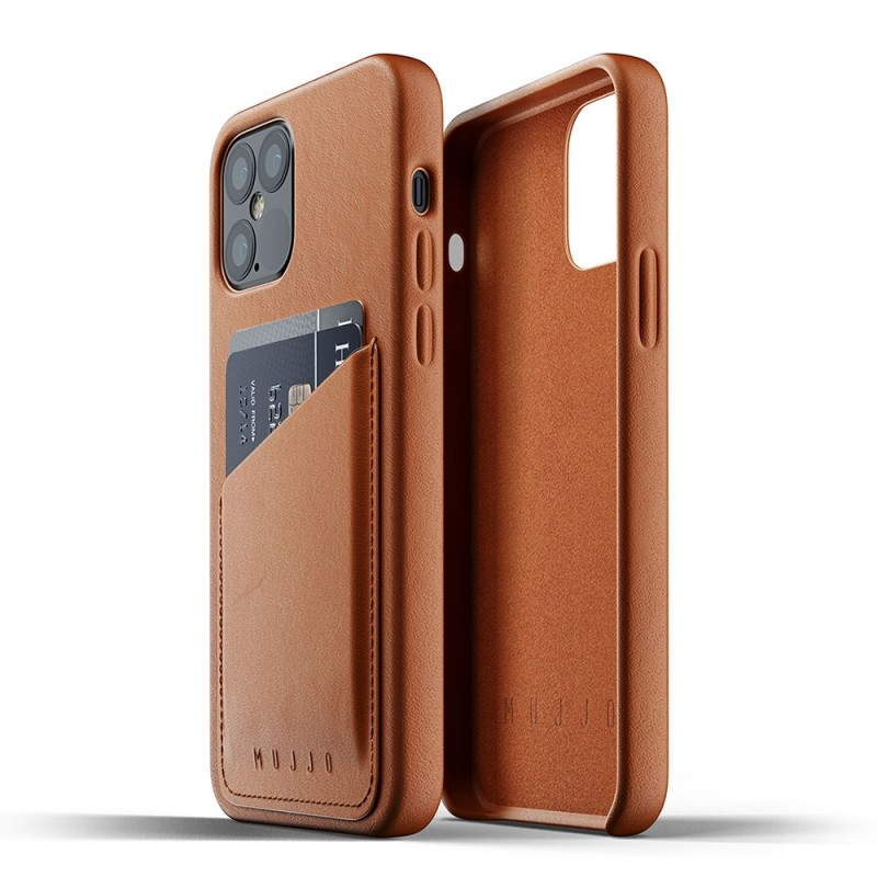 Mujjo Leather Wallet iPhone 12 Pro Max Bruin - 4