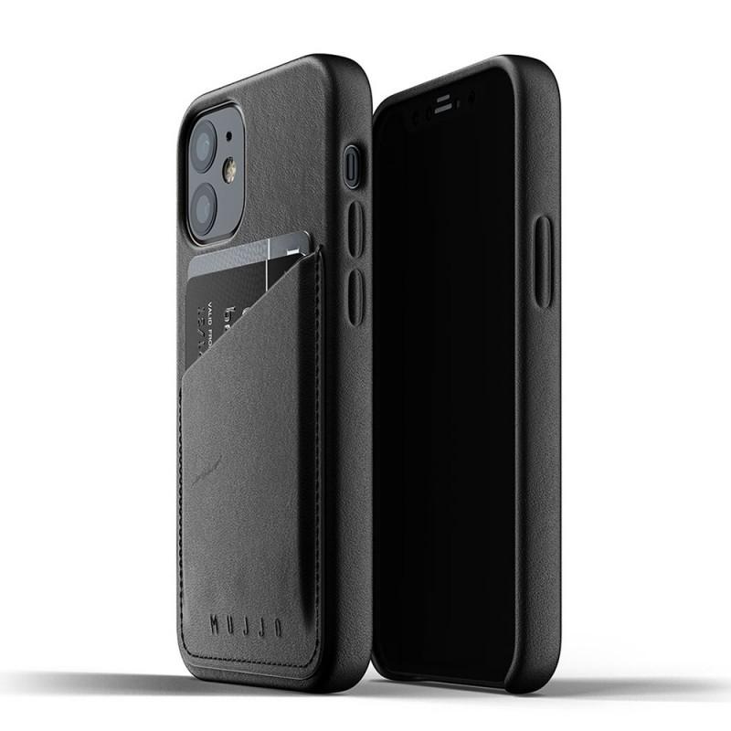 Mujjo Leather Wallet iPhone 12 Mini Zwart - 1