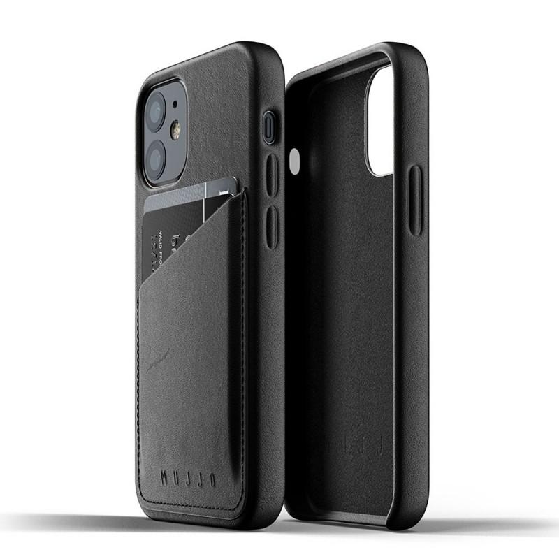 Mujjo Leather Wallet iPhone 12 Mini Zwart - 4
