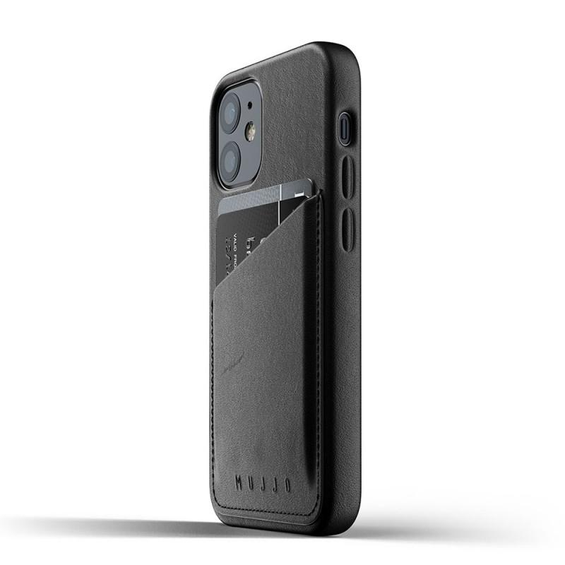 Mujjo Leather Wallet iPhone 12 Mini Zwart - 2