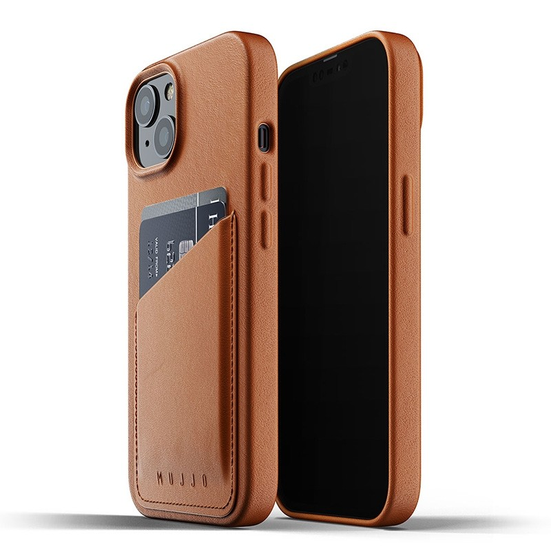 Mujjo Leather Wallet iPhone 13 Bruin - 1