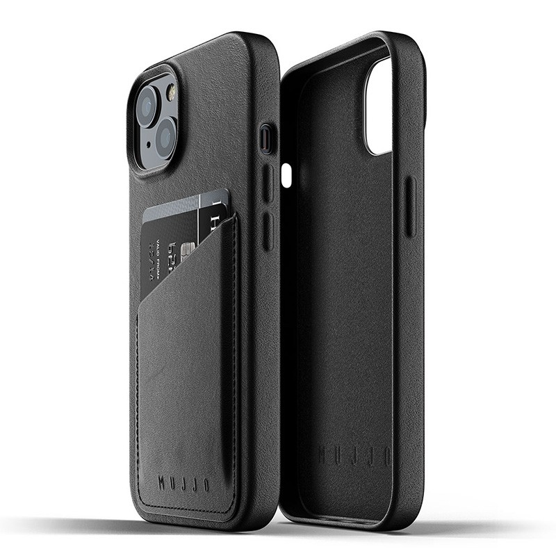 Mujjo Leather Wallet iPhone 13 Zwart - 2