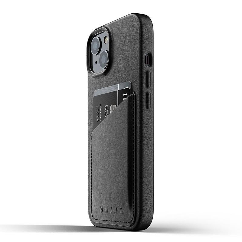 Mujjo Leather Wallet iPhone 13 Zwart - 3