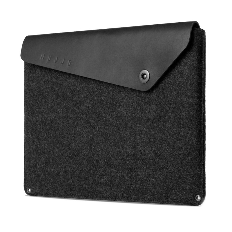 Mujjo Leather Sleeve Macbook 12 inch black - 2
