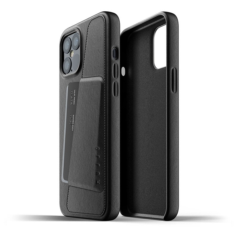 Mujjo Leather Wallet iPhone 12 Pro Max 6.7 inch Black 02