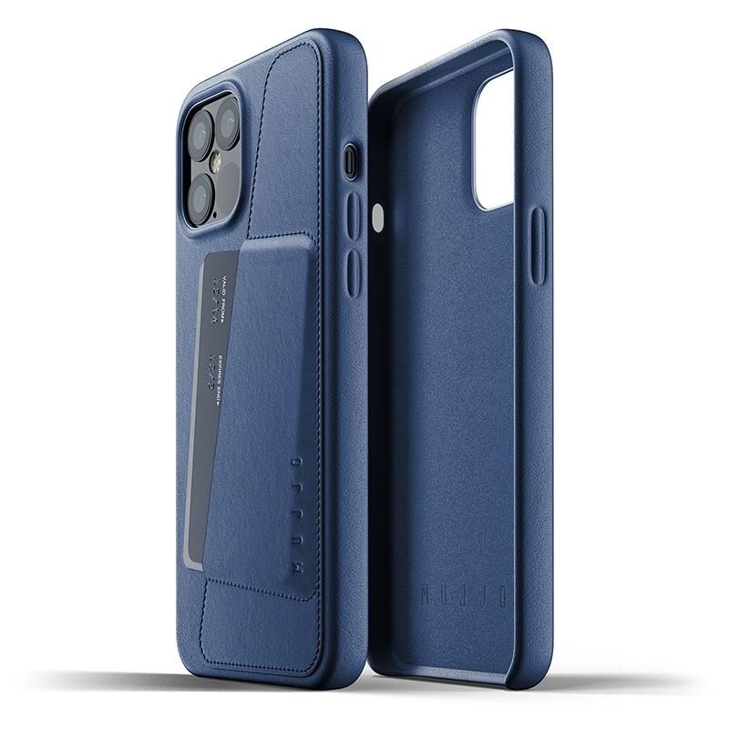 Mujjo Leather Wallet iPhone 12 Pro Max 6.7 inch Monaco Blue 02