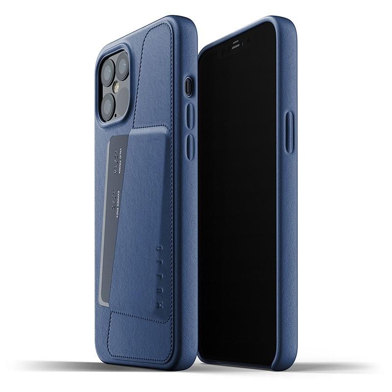 Mujjo Leather Wallet iPhone 12 Pro Max 6.7 inch Monaco Blue 01