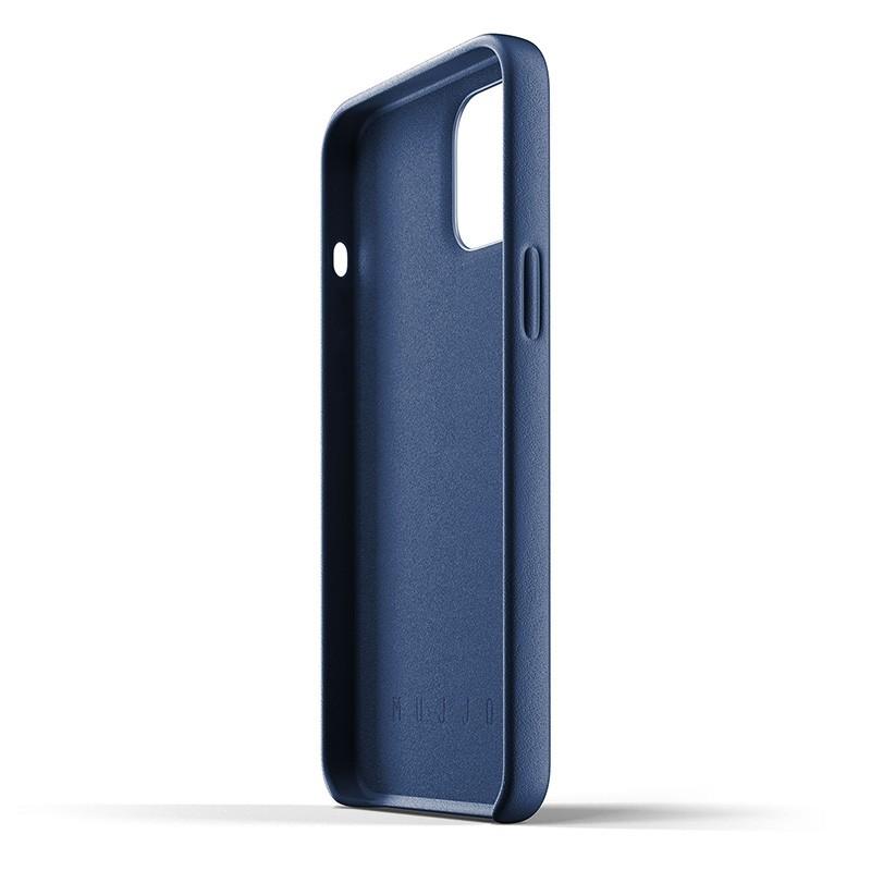 Mujjo Leather Wallet iPhone 12 Pro Max 6.7 inch Monaco Blue 04