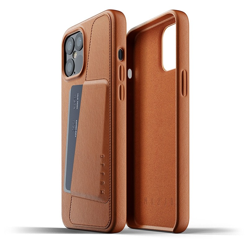 Mujjo Leather Wallet iPhone 12 Pro Max 6.7 inch Tan Brown 02