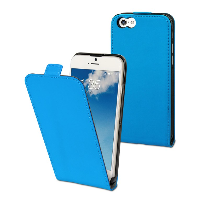 Muvit Slim Flip Case iPhone 6 Plus Blue  - 1