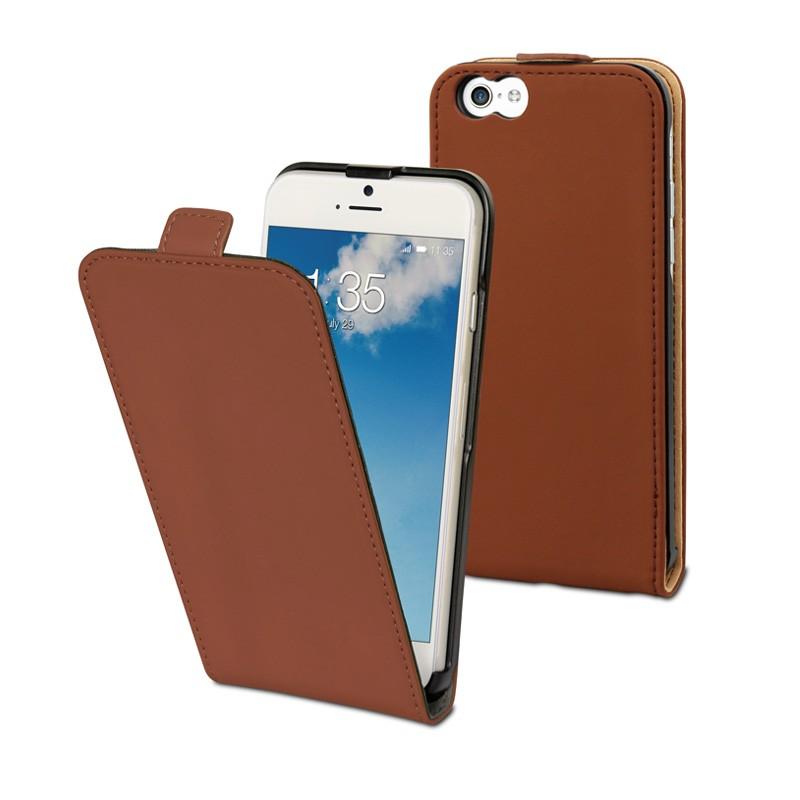 Muvit Slim Flip Case iPhone 6 Plus Brown - 1