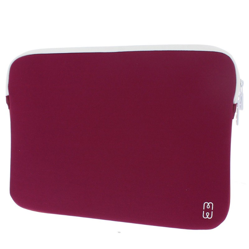 MW - MacBook Pro 13 inch / Air 2018 Sleeve Blackberry/White 02