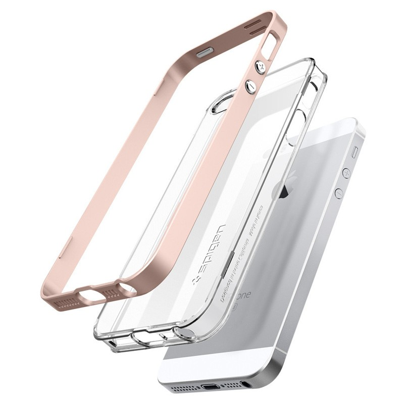 Spigen Neo Hybrid Crystal iPhone SE / 5S / 5 Rose Gold - 3