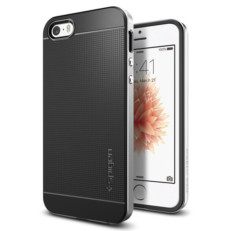 Spigen Neo Hybrid iPhone SE / 5S / 5 Satin Silver - 4