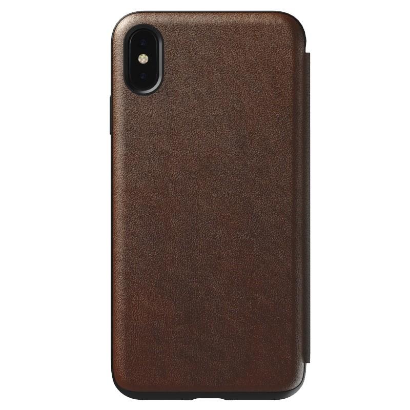 Nomad Rugged Tri-Folio Leather Case iPhone XS Max Bruin 06