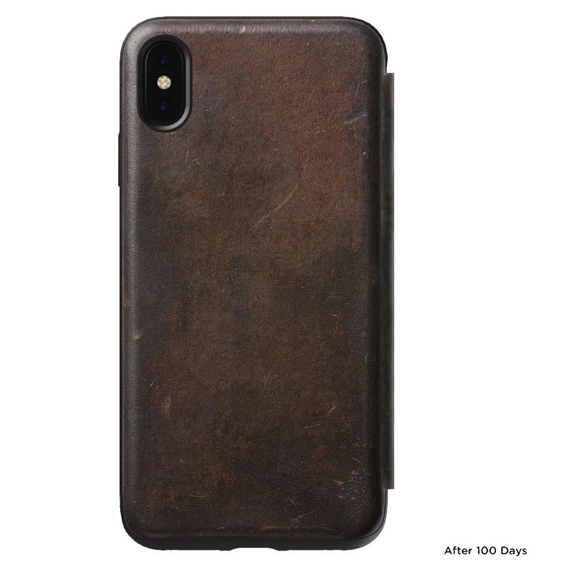 Nomad Rugged Tri-Folio Leather Case iPhone XS Max Bruin 07