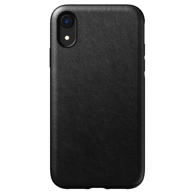 Nomad - Leather Case Apple iPhone XR Zwart 01