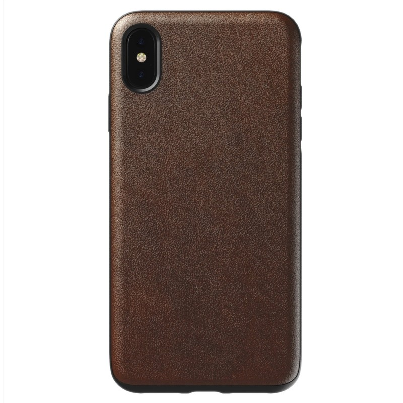 Nomad Leather Case iPhone XS Max Bruin 01